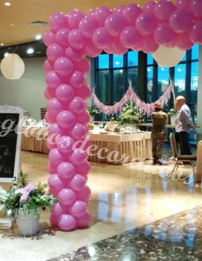 entrada con globos