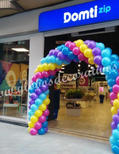 arco inauguración tienda Domti