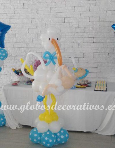 cigueña y mesa candy